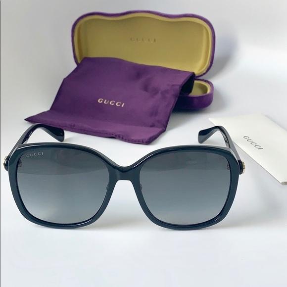 7cd0e5e5e5897 Gucci Women Sunglasses GG0371SK-001 Black Grey